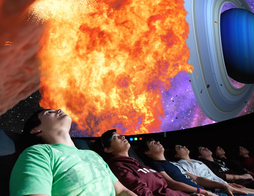 Audience at the Lamar Bruni Vergara Planetarium