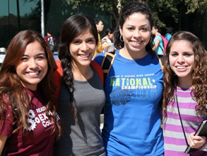 TAMIU Students at Pep-Rally